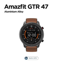 Load image into Gallery viewer, Global Version Amazfit GTR 47mm Smart Watch 5ATM Waterproof Smartwatch 24Days Battery GPS Music Control Leather Silicon Strap
