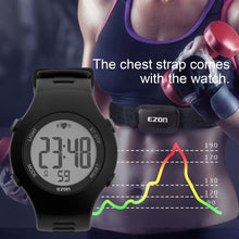 Load image into Gallery viewer, 50M Waterproof Heart Rate Monitor Sport Fitness Watch Men Women Outdoor Cycling Sport Wireless With Chest Strap Heart Rate