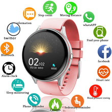 Load image into Gallery viewer, LIGE 2020 New Full Touch Screen Smart Watch Women Multifunctional Sport Heart Rate Blood Pressure IP67 Waterproof Smartwatch+Box