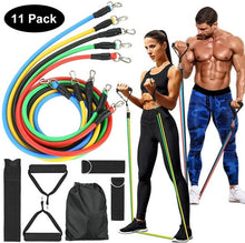 Load image into Gallery viewer, 208cm Stretch Resistance Band Exercise Expander Elastic Band Pull Up Assist Bands for Fitness Training Pilates Home Workout