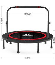 Load image into Gallery viewer, 40'' Silent Fitness Mini Trampoline - Indoor Rebounder for Adults Outdoor Exercise,Foldadle Trampoline,Jumping Bed
