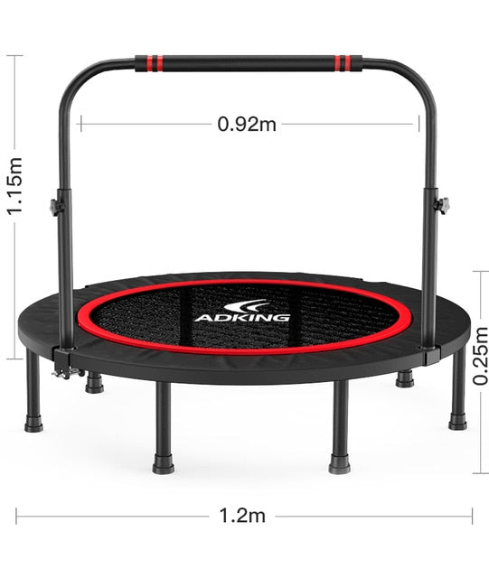 40'' Silent Fitness Mini Trampoline - Indoor Rebounder for Adults Outdoor Exercise,Foldadle Trampoline,Jumping Bed