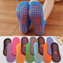 Load image into Gallery viewer, 5 Pairs Women Child Cotton Yoga Socks Anti-Slip Quick-Dry Foot massage Fitness Sport Dance Slippers adult Trampoline socks
