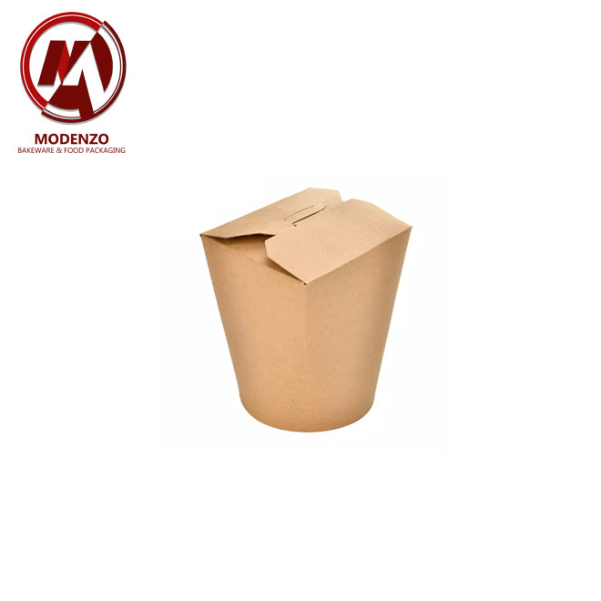 Kraft Noodle Box w/ Round Base - 500 pcs/ctn