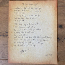 Load image into Gallery viewer, Handwritten Lyric Sheet A Girl Like You