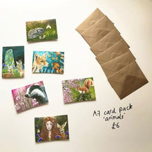 Load image into Gallery viewer, A7 Card Pack - Animals