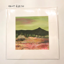Load image into Gallery viewer, Bennachie and Trees Print - FRAMED or UnFramed