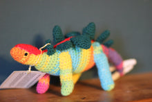 Load image into Gallery viewer, Crocheted Stegosaurs