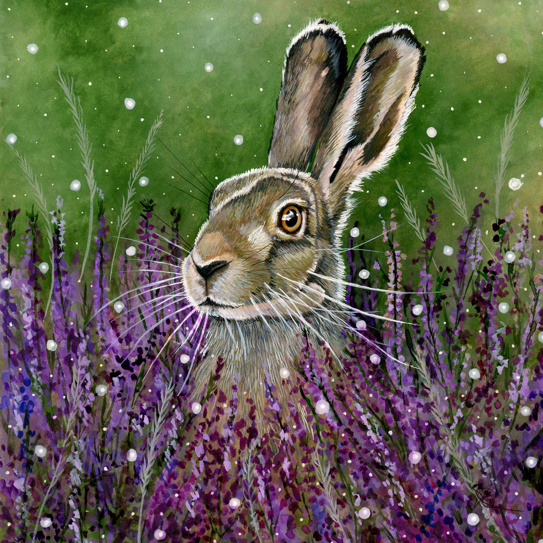 Amongst the Blooming Heather - ORIGINAL FRAMED PAINTING