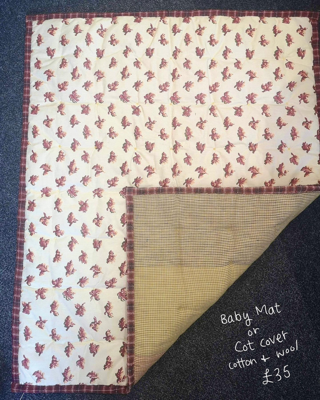 Baby Floor mat or Cot quilt