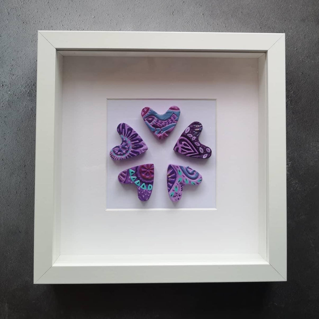 Ceramic heart frame