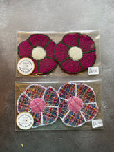 Load image into Gallery viewer, Harris Tweed Flower Coasters
