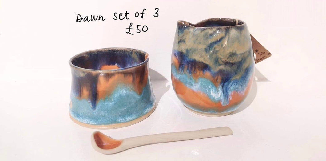 3 piece - Jug, pot and spoon
