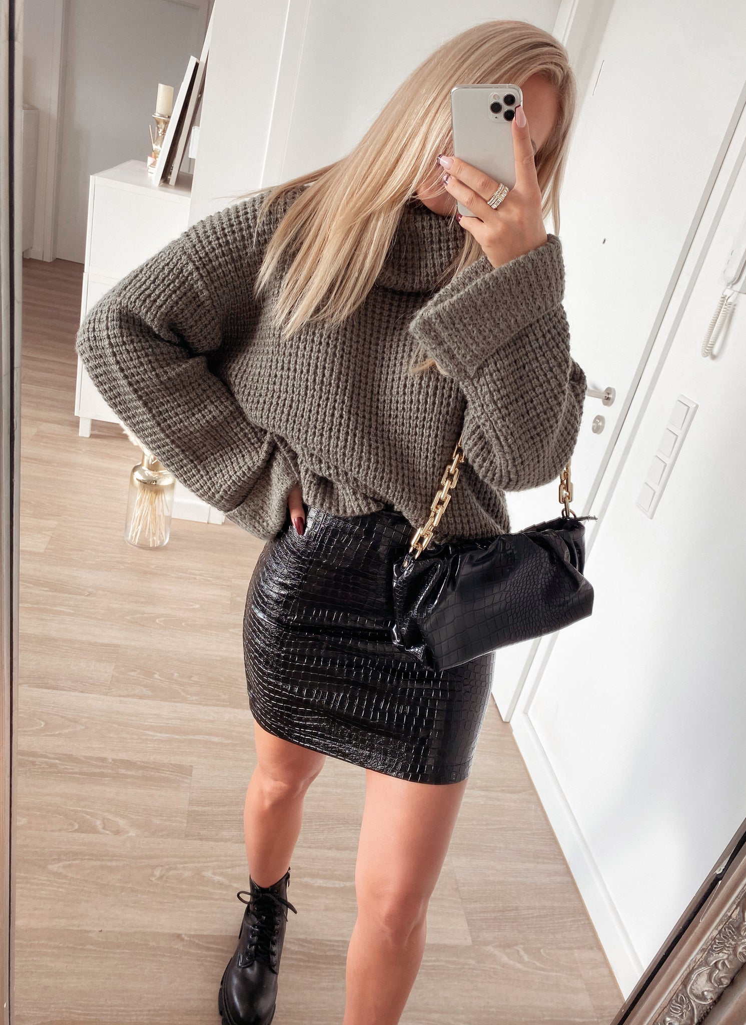 skirt 'leder croco'