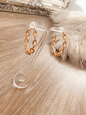 earrings 'creolen chain'