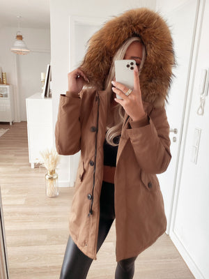 wintermantel 'camel & black'