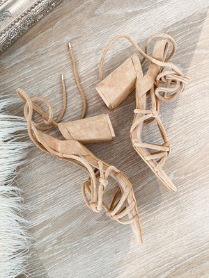 high heels 'elegance in beige'