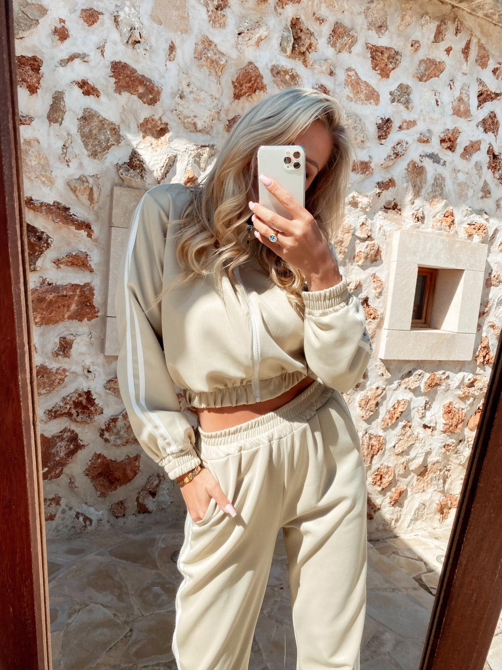 jogger set 'sporty beige'