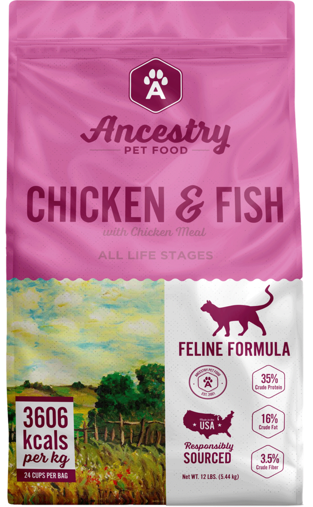 Ancestry Chicken & Fish Dry Cat Food