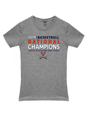 2019 National Champions Gray Ladies T-Shirt