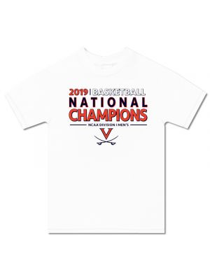 2019 National Champions White Straight T-Shirt