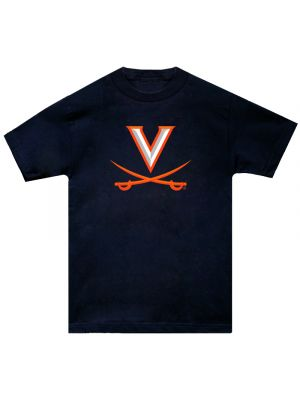 Hanes Navy V and Crossed Sabers Tee