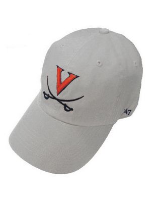 47 Brand Gray V and Crossed Sabers Adjustable Hat