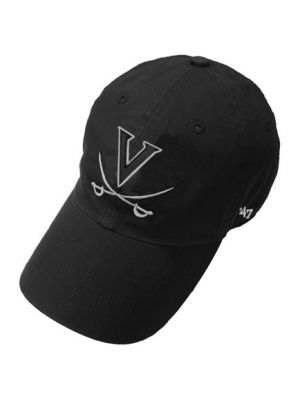 47 Brand Washed Black V and Crossed Sabers Hat