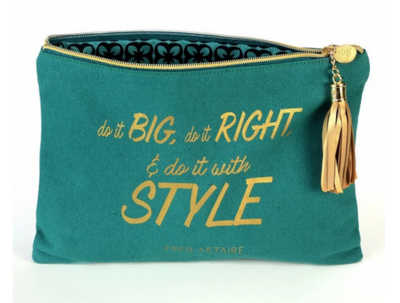 B Plus: Canvas Cosmetic Bag, Fred Astaire