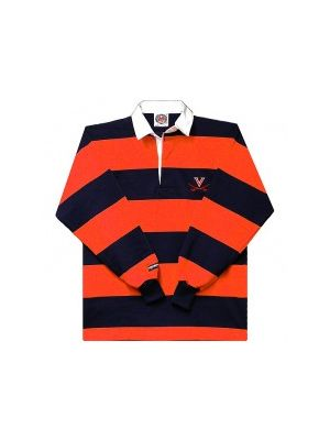 Barbarian Rugby Shirt with Orange & Navy Stripes
