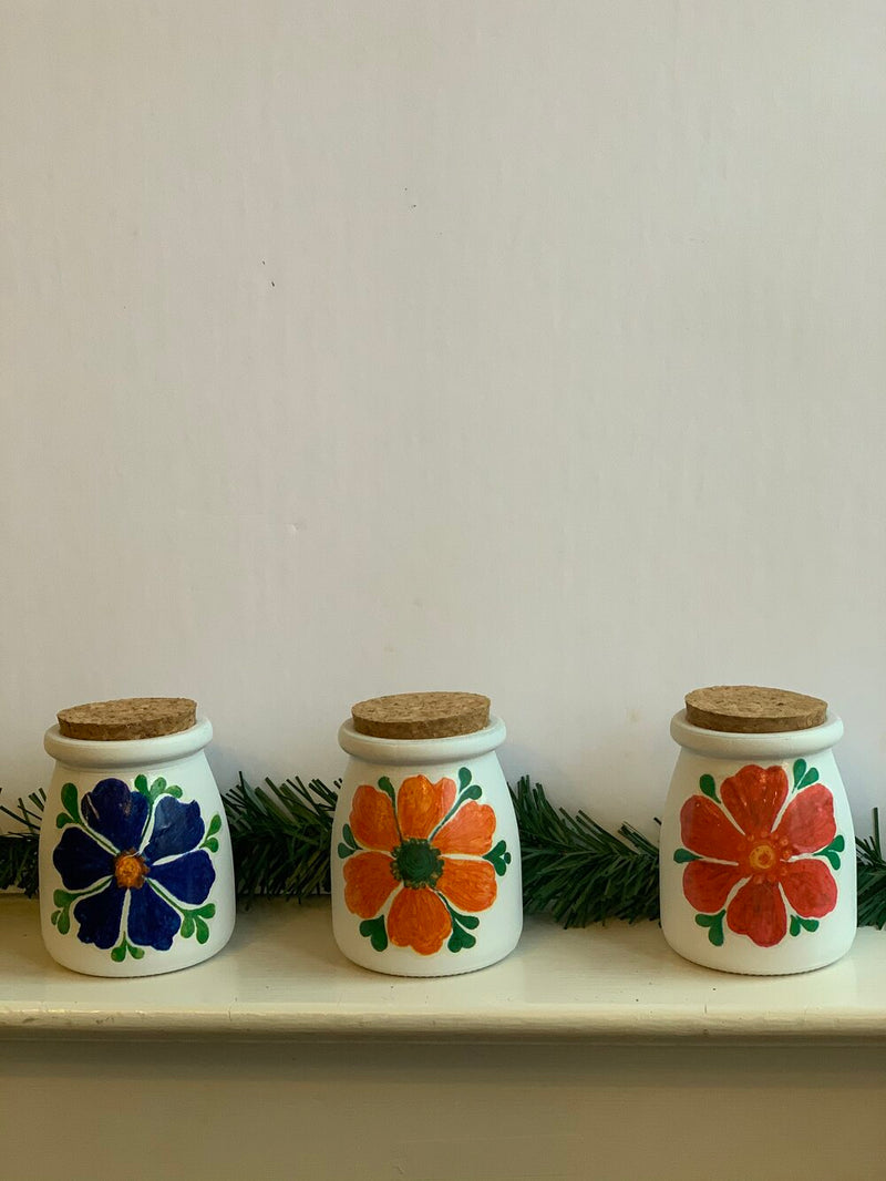 Vintage Flower Power Candle