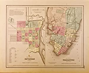 The City of Savannah, Georgia [and] The City of Charleston, South Carolina [two maps on one sheet]