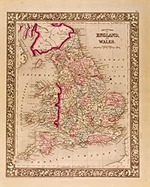 County Map of England, and Wales