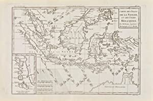 Carte des Isles de la Sonde, et des Isles Moluques [two maps on one sheet]