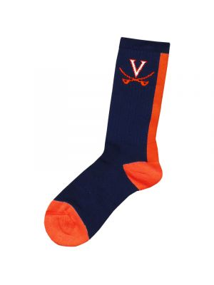 Navy Socks with Back Stripe