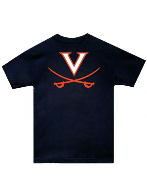 Navy V and Crossed Sabers T-Shirt