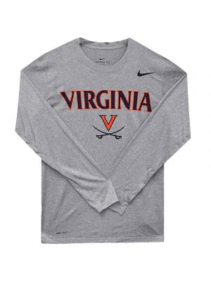 Nike Gray Legend Long Sleeve Performance Top