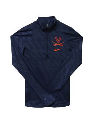 Nike Ladies Navy Tailgate Element Quarter Zip