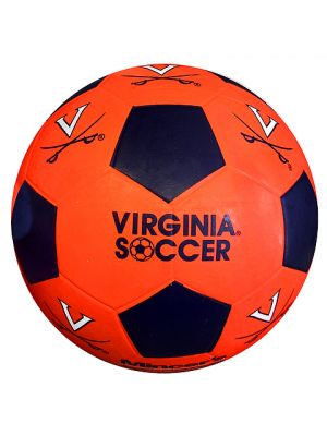 Orange and Navy Rubber Soccer Ball Size 3