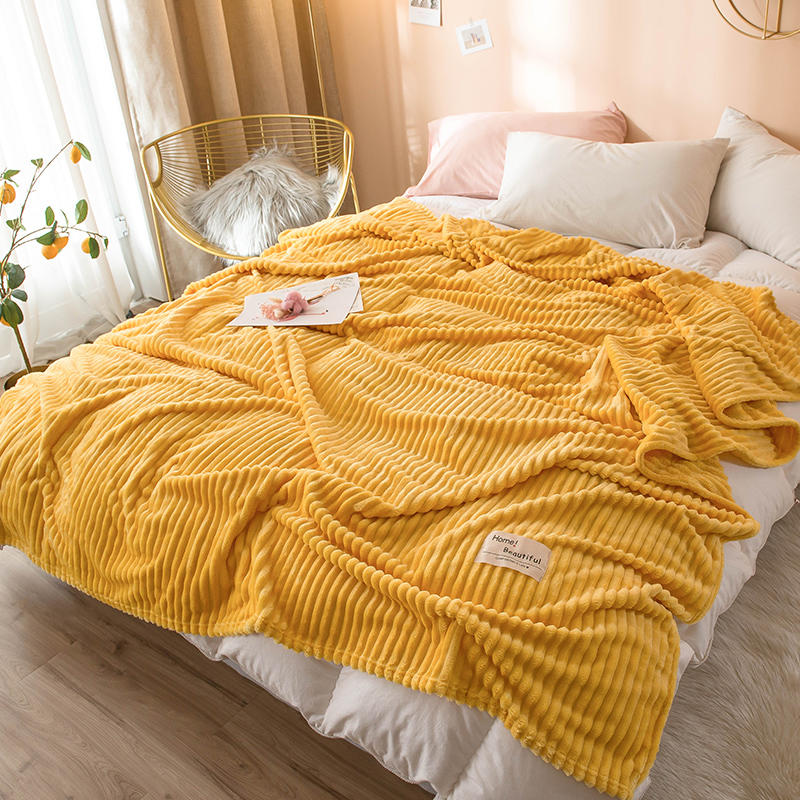 Soft Warm Square Flannel Bed Blanket