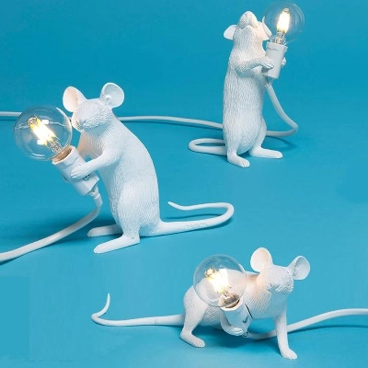 Mouse Resin Table Lamp Decociousmy