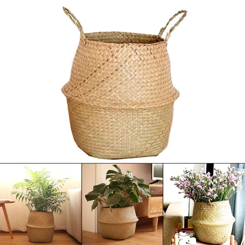 Rattan Hanging Flower Pot