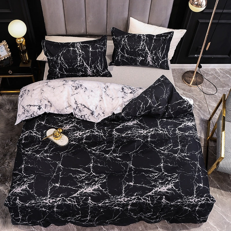 Marble Bed Duvet Cover