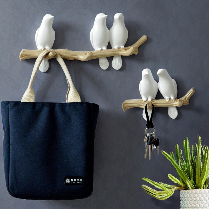 Living Room Bird Wall Hooks