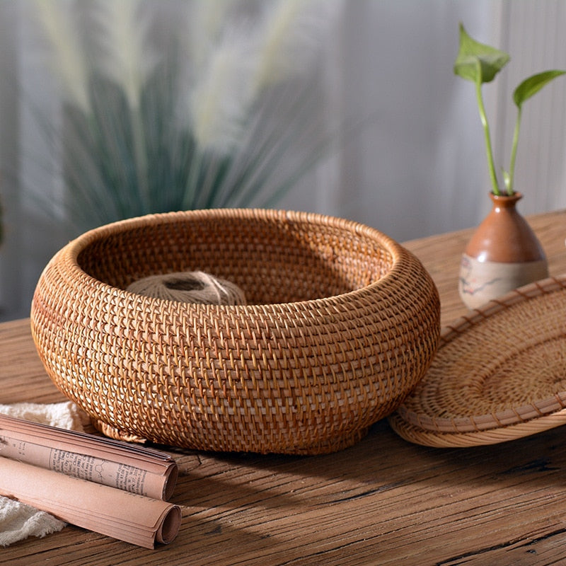 Rattan Wicker Bread Basket