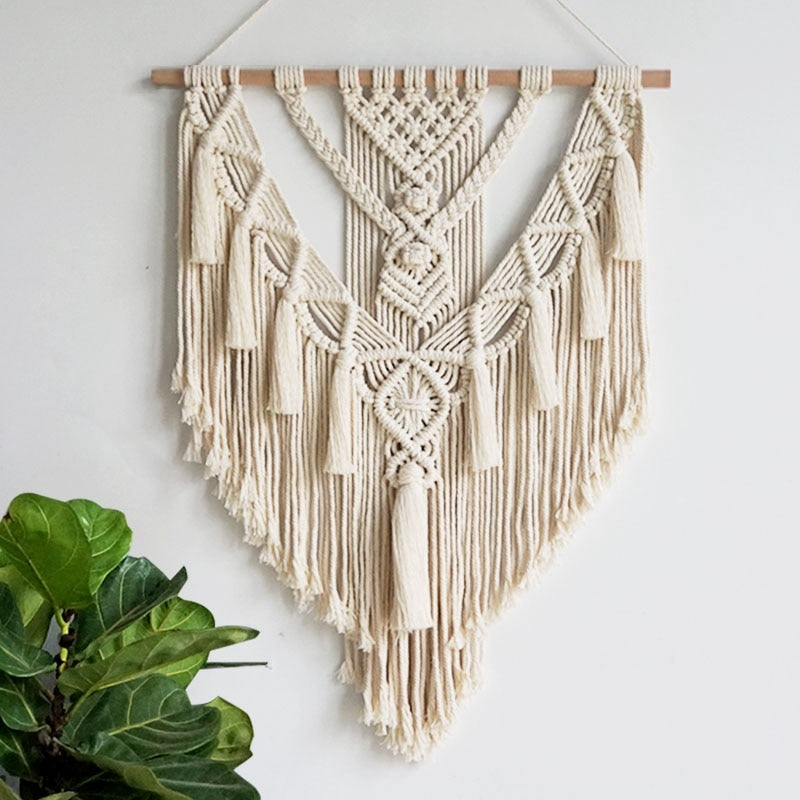 Large Handmade Boho Macramé Wall Hanging Decor