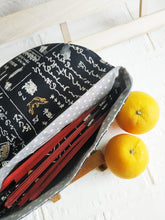 Load image into Gallery viewer, Black Japanese Magnetic Clutch Bag