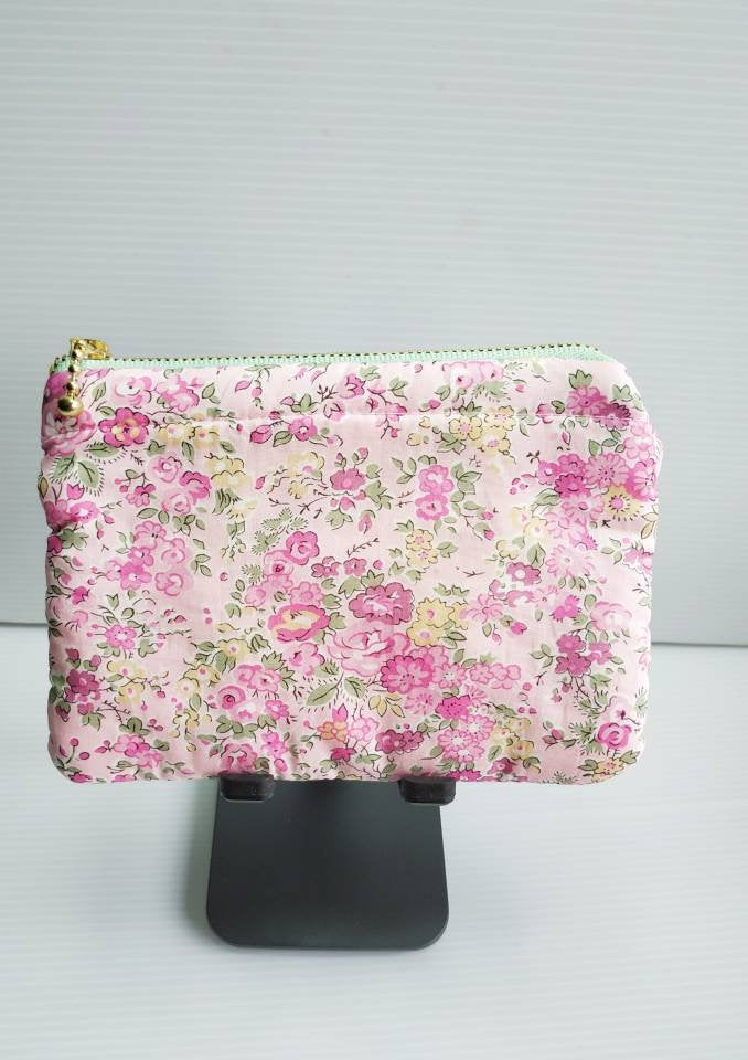 Floral English Garden Liberty zip pouch