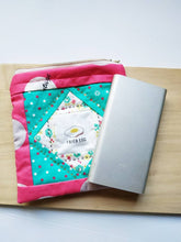 Load image into Gallery viewer, Egg square patchwork zip pouch