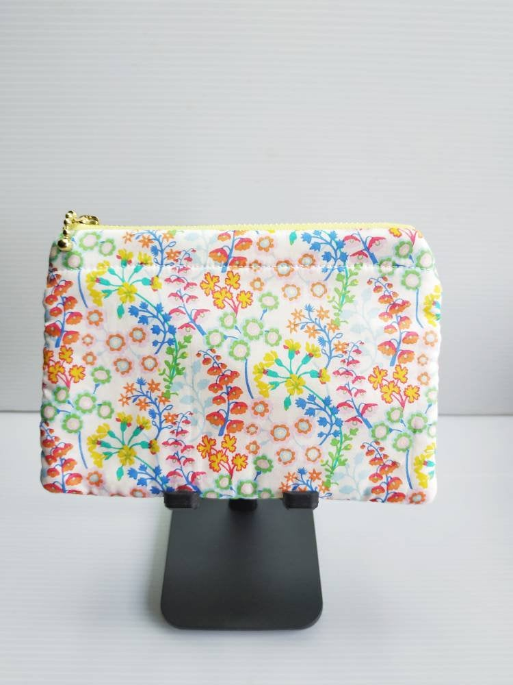 Floral Liberty zip pouch